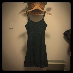 Forest Green Lace Dress